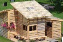 construir una casa con palets